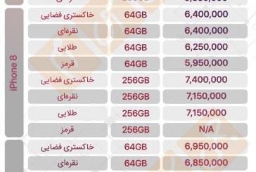 آخرین قیمت گوشیها در بازار ایران – ۱۶ تیر ۹۷