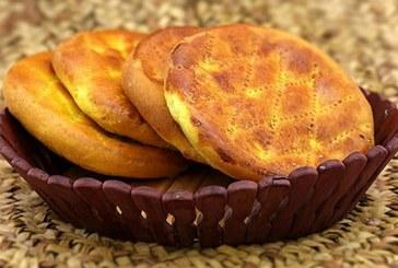 طرز تهیه نان فطیر مغزدار بدون فر
