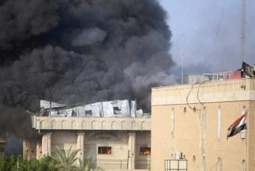 از سر گرفتن شدن ناآرامیها در بصره؛ وقوع آتشسوزی در ساختمان استانداری