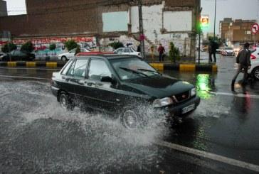 پیش بینی بارش شدید باران در پنج استان