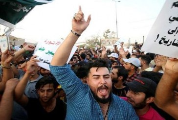 معترضان عراقی در بصره مسیر منتهی به گذرگاه مرزی مشترک با ایران را بستند