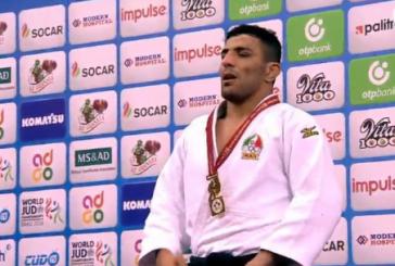 اهتزاز پرچم ایران در جودوی جهان بعد از ۱۵ سال/ ملایی: مدال طلایم را به مردم اهواز تقدیم میکنم