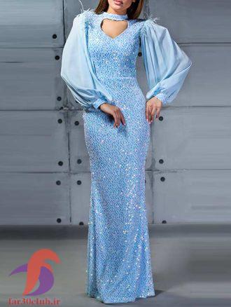 لباس شب زنانه آبی
