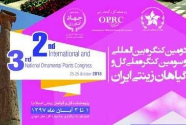 دومین کنگره بین المللی گل و گیاهان زینتی در محلات برگزار می شود
