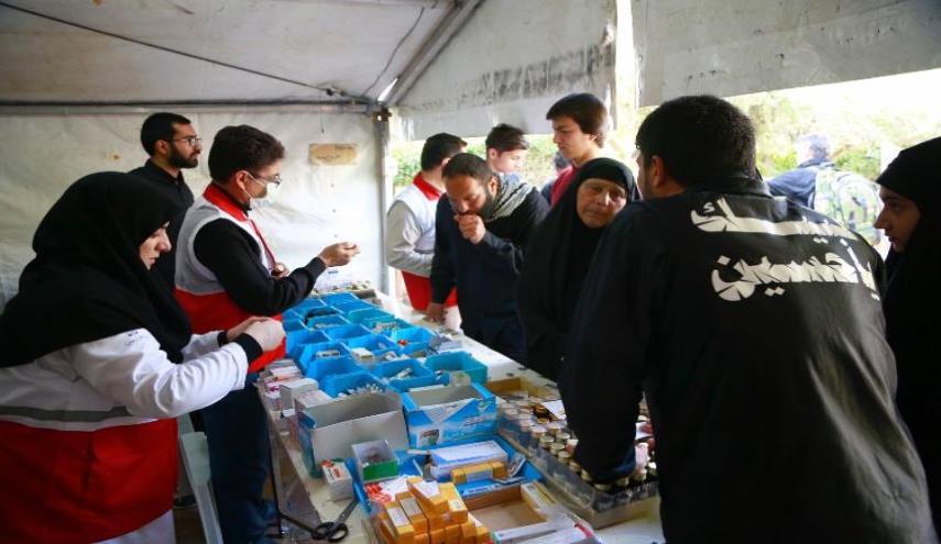 پایگاه درمانی هلال احمر در عراق