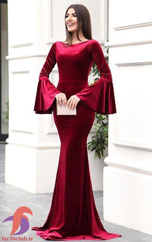 لباس شب زنانه مخمل