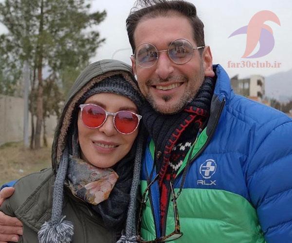 افسانه بایگان و همسرش