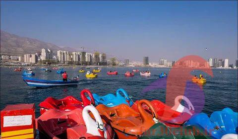 قایق سواری در دریاچه چیتگر
