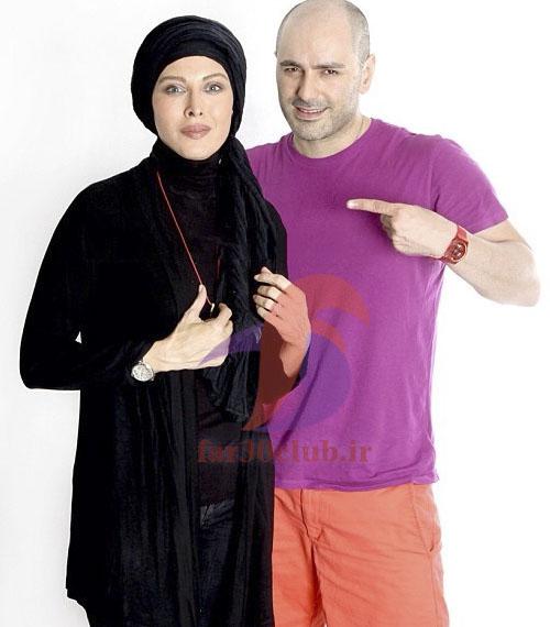 مهتاب کرامتی و همسرش
