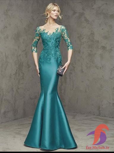 لباس شب زنانه سبز
