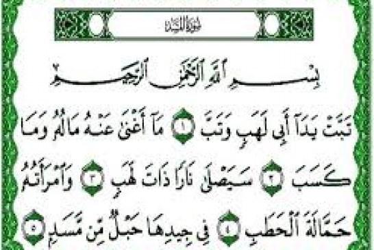 کسی که این سوره را بخواند اهل بهشت خواهد بود