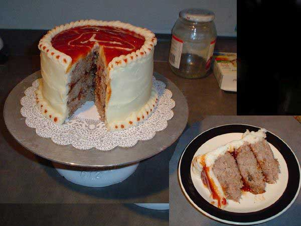 کیک گوشت 5