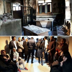 آتش سوزی در مدرسه غیر دولتی زاهدان