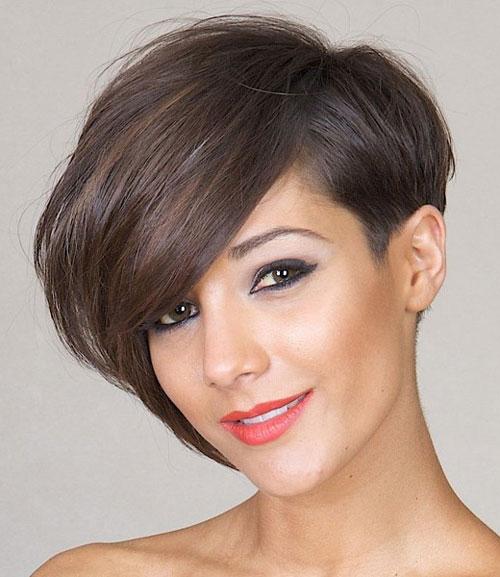 مدل موی کوتاه برای صورت کشیده 2