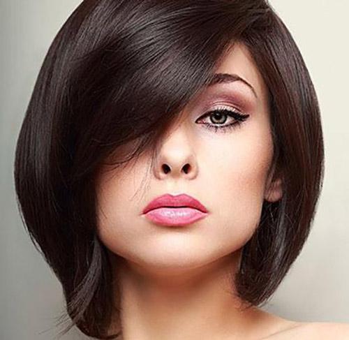 مدل موی کوتاه برای صورت گرد 2
