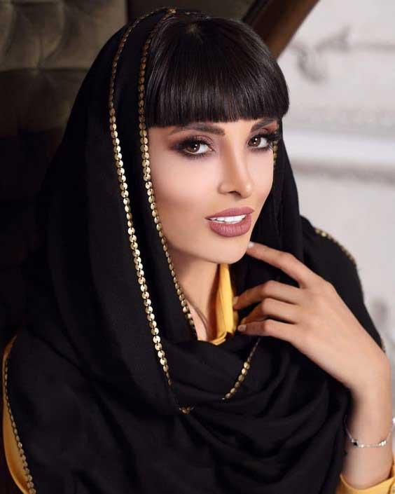 روسری مجلسی حریر دور طلایی