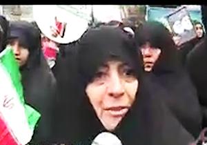 خواهر مسیح علینژاد دز راهپیمایی 22 بهمن 97