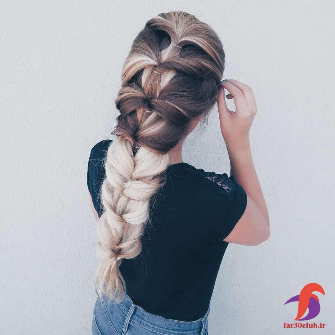 مدل بافت مو دخترانه آسان