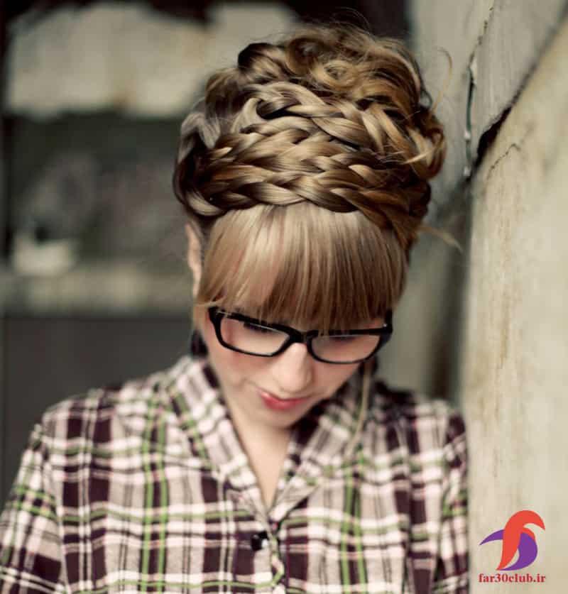 مدل بافت مو دخترانه چتری