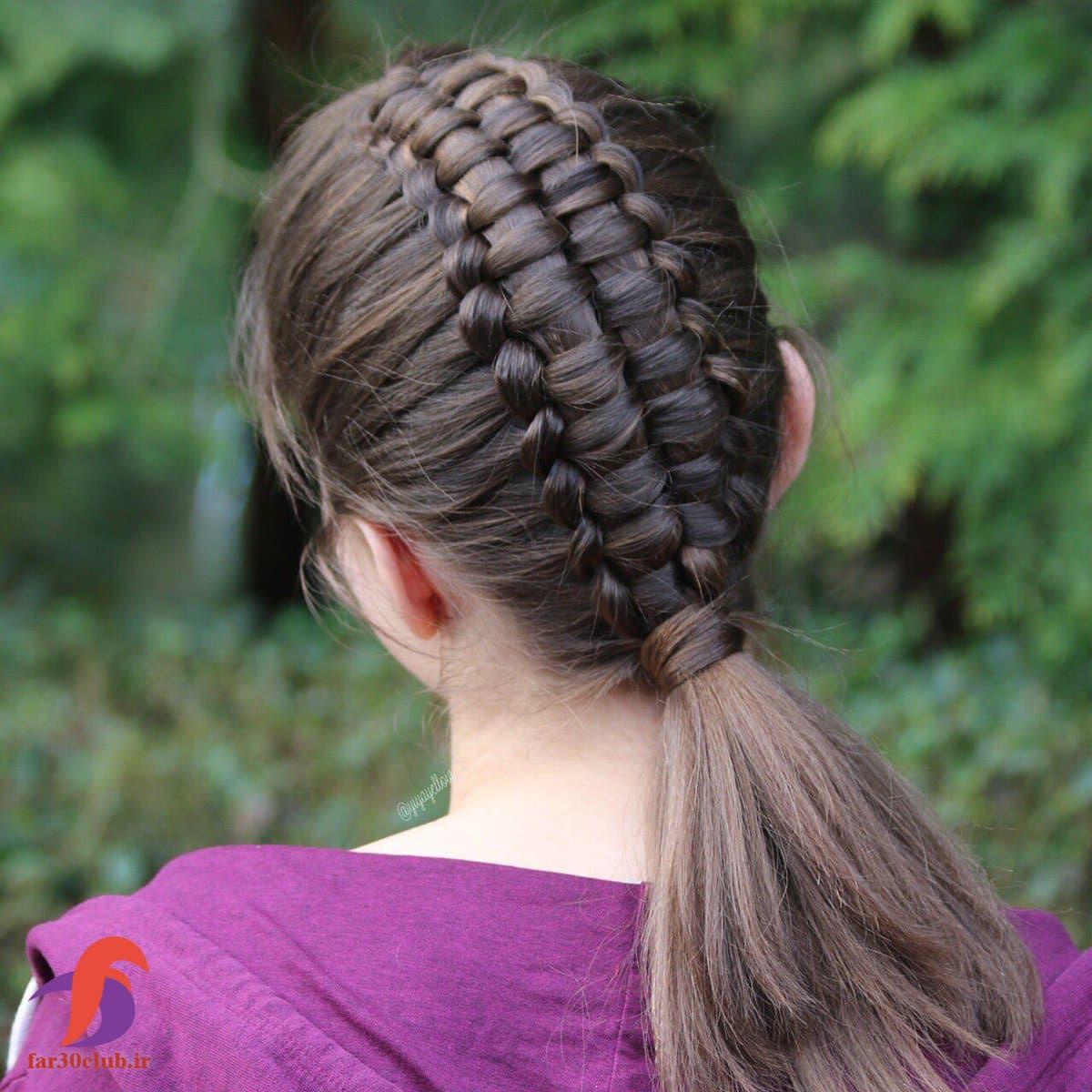 مدل بافت مو دخترانه از کف سر