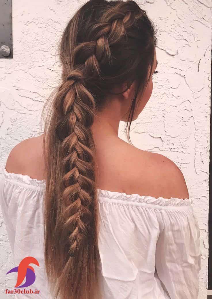 مدل بافت مو دخترانه بلند