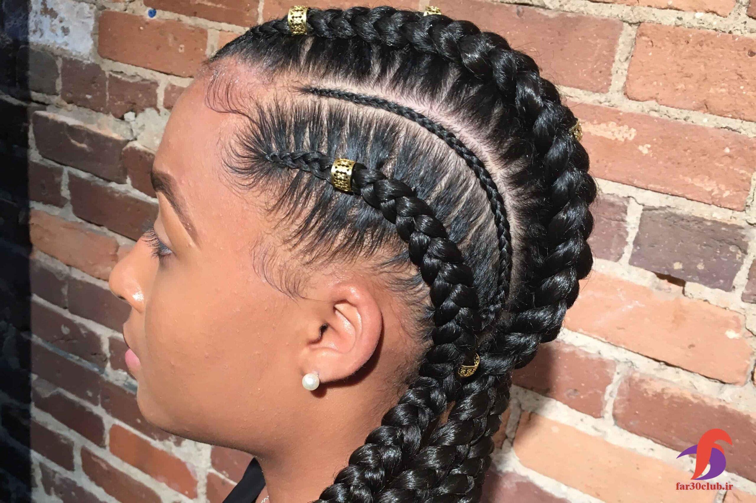 مدل بافت مو دخترانه آفریقایی