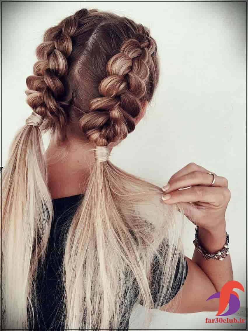 مدل بافت مو دخترانه خرگوشی
