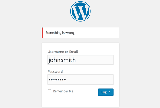 no wordpress login hints