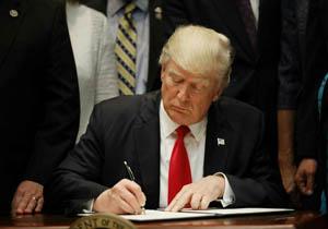 تحریم مقام معظم رهبری و دفتر ایشان و نهادهادهای مرتبط توسط ترامپ