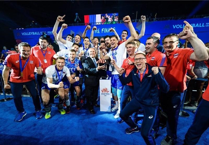 تیم ملی والیبال روسیه قهرمان لیگ ملت های والیبال 2019 شد