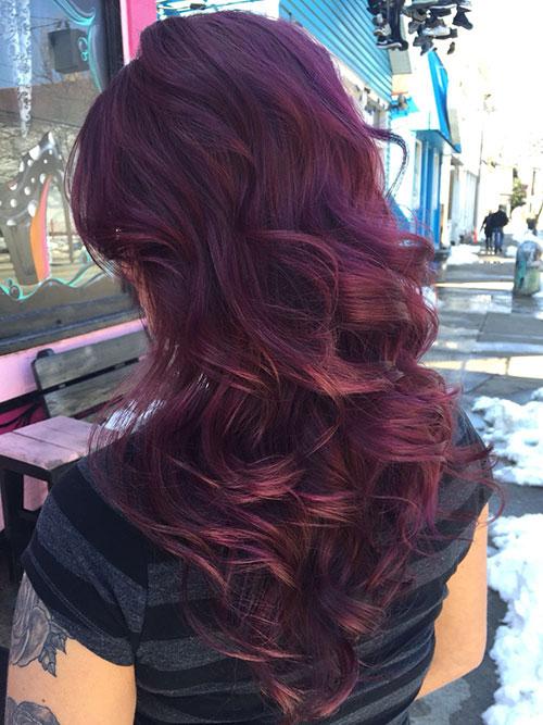 ترکیب رنگ موی بادمجانی
