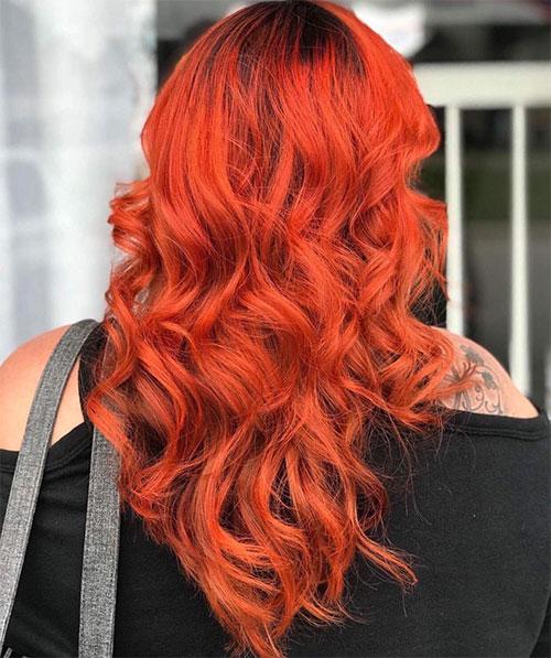 ترکیب رنگ موی نارنجی (پاییزی)