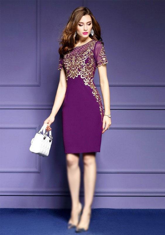 زیباترین مدل های لباس مجلسی بنفش برای زیباپسندان