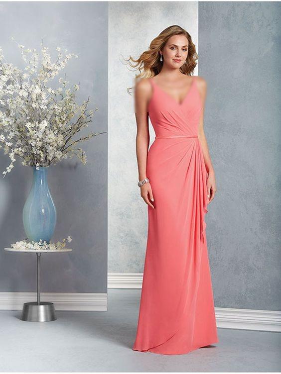 مدل لباس مجلسی مرجانی بلند