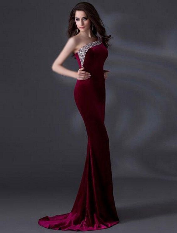 دکلته زرشکی، دکلته بلند، زرشکی بلند زنانه، لباس مجلسی دکلته بلند