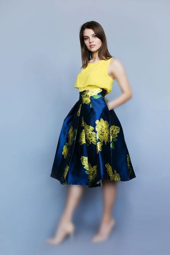گلچین مدل لباس مجلسی ساتن گلدار