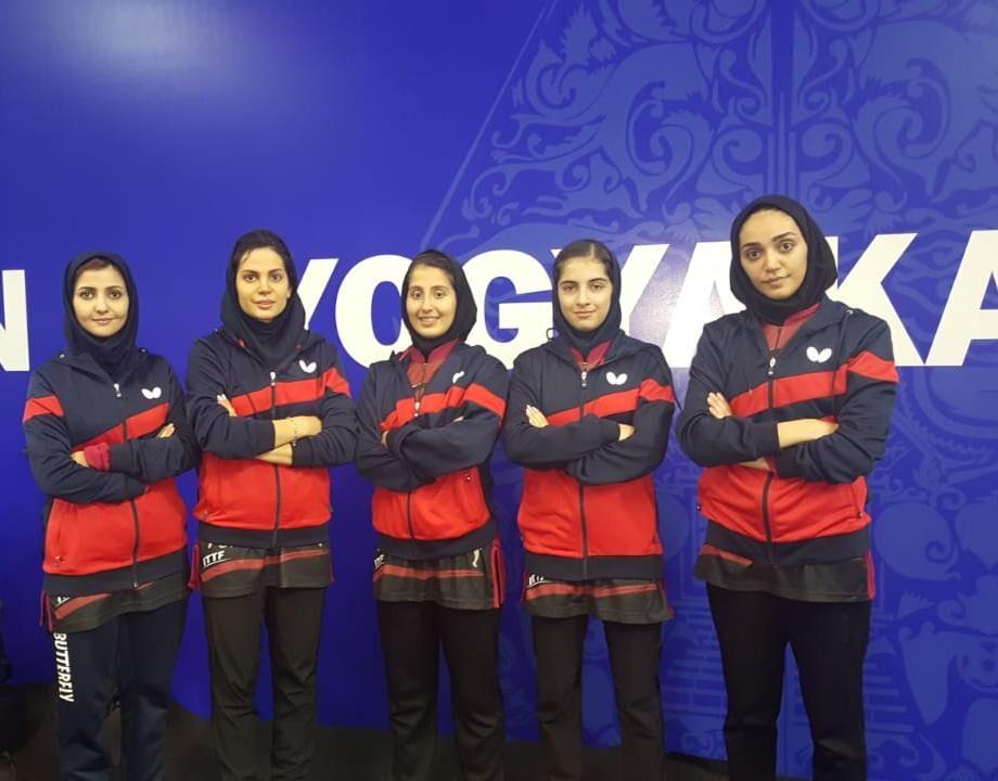 تیم ملی تنیس روی میز زنان ایران