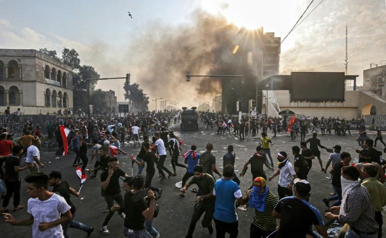 تجمع اعتراضی مردم در بغداد