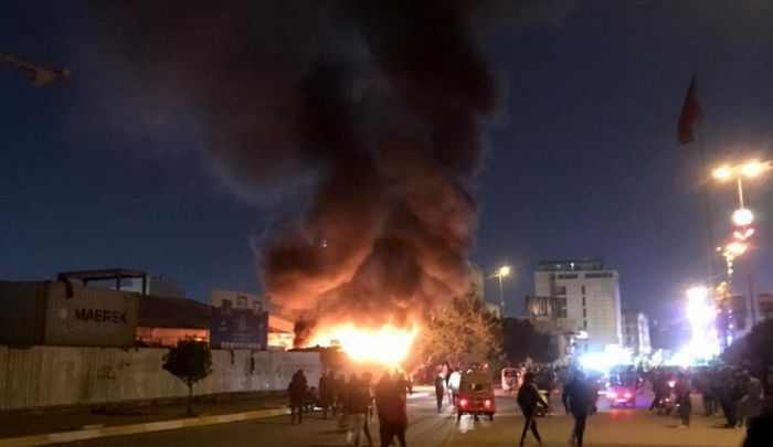 هیئت های حسینی در محله حی البلدیه کربلا به آتش کشیده شد