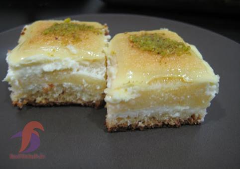 کیک بسبوسه پنیری