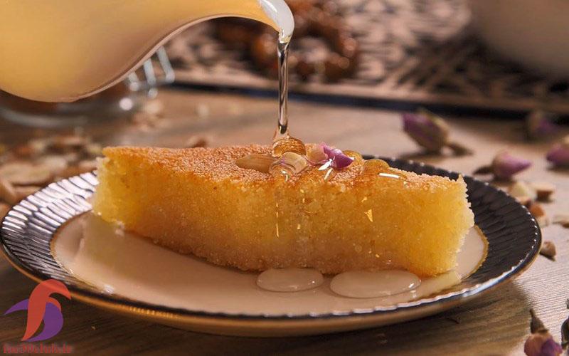 شربت کیک بسبوسه