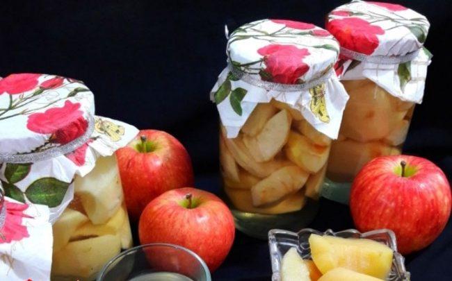کمپوت سیب، طرز تهیه کمپوت سیب