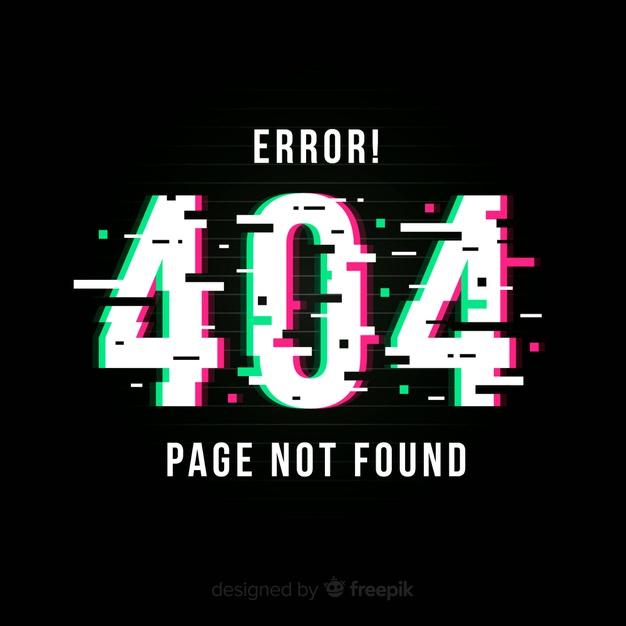 ارور 404، error 404