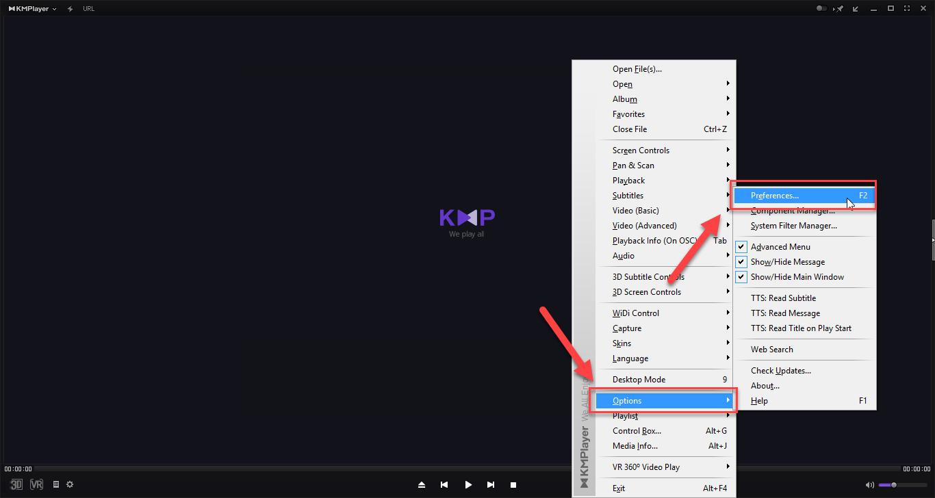اجرای همزمان چند فایل در Kmplayer