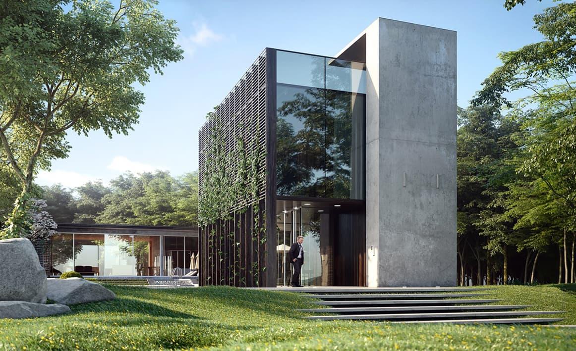 ایده طراحی نمای ساختمان لوکس