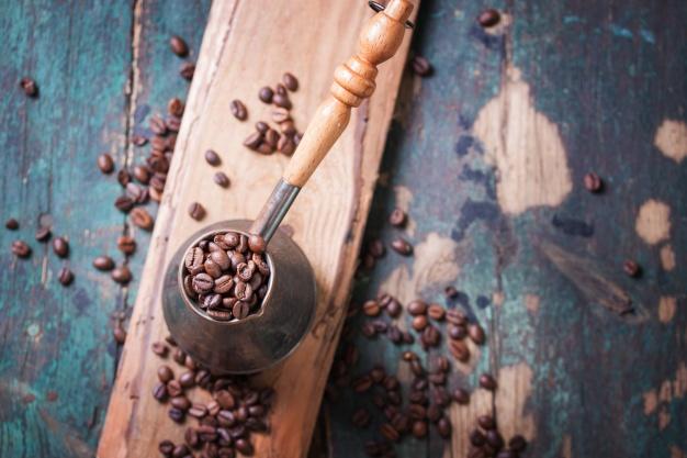 قهوه ترک با گاز