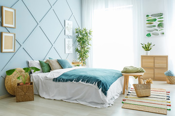 طراحی روی دیوار اتاق خواب ، تزئین اتاق خواب