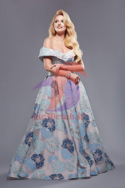 مدل لباس مجلسی بلند با پارچه کرپ ، مدل لباس مجلسی بلند برای افراد چاق