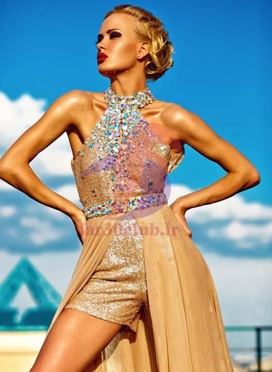 مدل لباس مجلسی بلند بچه گانه ، مدل لباس مجلسی بلند با پارچه لمه