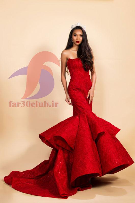 مدل لباس مجلسی بلند با پارچه حریر ، مدل لباس مجلسی بلند دخترانه